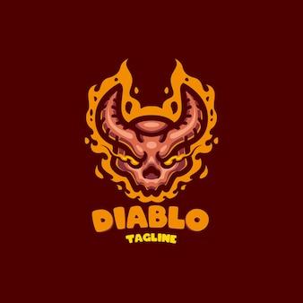 Logo de la mascotte du crâne pour l'équipe d'esport et de sport
