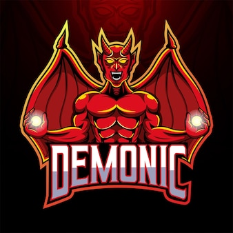 Le logo de la mascotte du diable