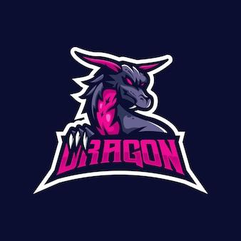 Logo de la mascotte du dragon pour l'équipe e-sport.