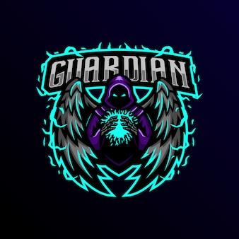 Logo de la mascotte du gardien esport gaming