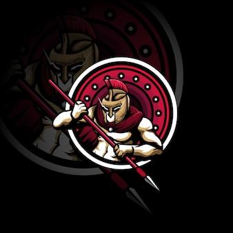 Logo mascotte du jeu gladiator warrior sports gaming