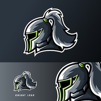 Logo mascotte du jeu knight kingdom sport ou esport