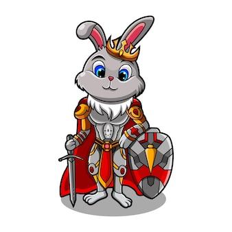 Logo de la mascotte du roi lapin esport