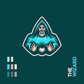 Le logo de la mascotte du sorcier