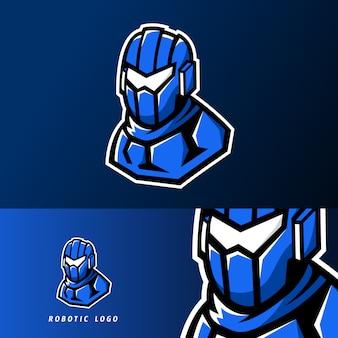 Logo de la mascotte du sport robotique ou du jeu esport moderne