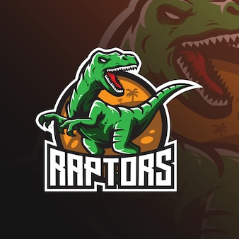 Logo de la mascotte du vecteur raptor