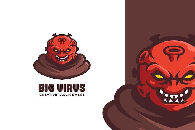 Logo de mascotte e-sport virus rouge sauvage