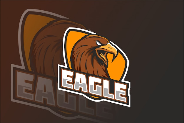 Logo de la mascotte eagle e sport