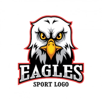 Logo mascotte eagle head