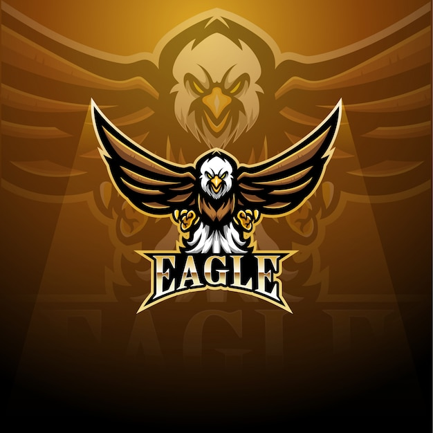 Logo de la mascotte eagle sport
