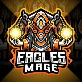 Logo de mascotte eagles mage esport