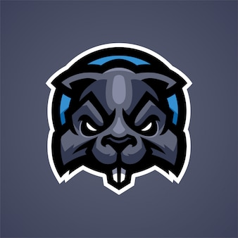 Logo mascotte écureuil