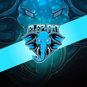 Logo mascotte éléphant esport