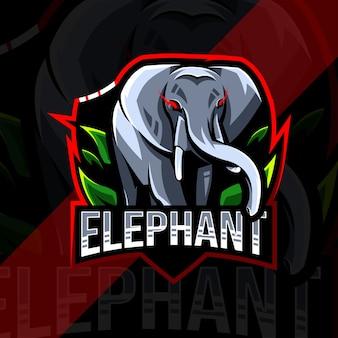 Logo de mascotte d'éléphant
