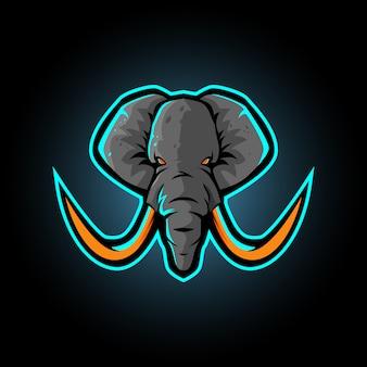 Logo de la mascotte d'éléphant