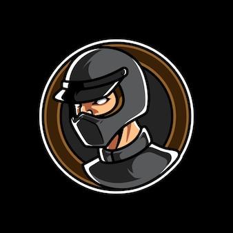 Logo de mascotte emblème de sport automobile