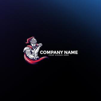 Logo de mascotte épée spartiate