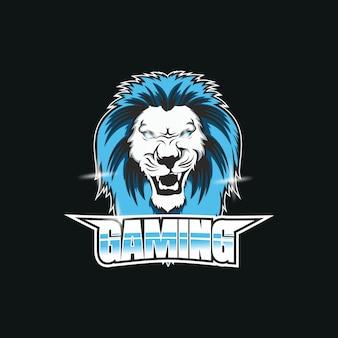 Logo de la mascotte de l'équipe e-sports de jeu lion