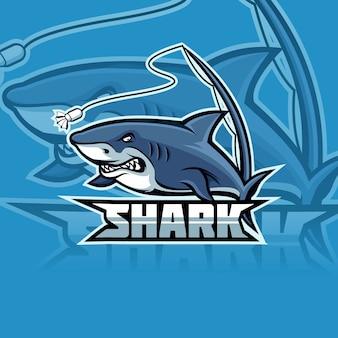 Logo de la mascotte de l'équipe e-sports de requin