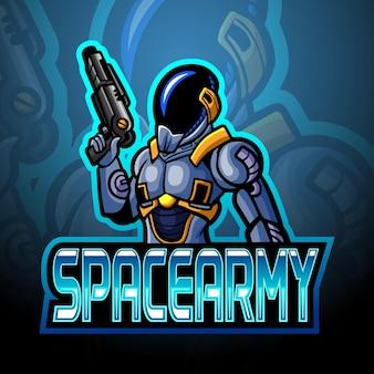 Logo de la mascotte esport de l'armée spatiale