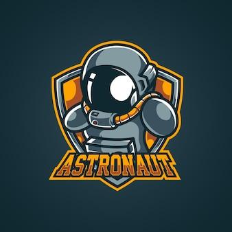 Logo de la mascotte de l'esport de l'espace astronaute