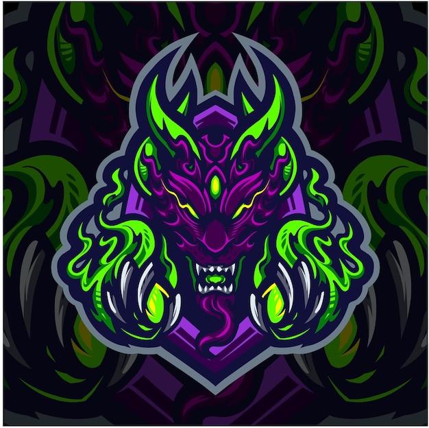 Logo de mascotte esport fantôme