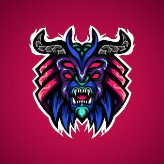 Logo de la mascotte de l'esport de jeu de monstre prédateur