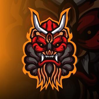 Logo de mascotte esport de jeu de monstres sauvages