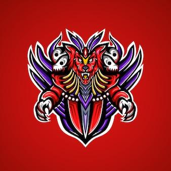 Logo de mascotte esport loup sauvage