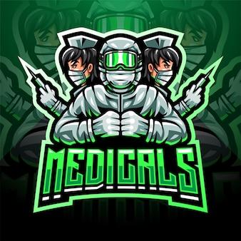 Le logo de la mascotte esport médical