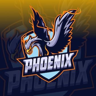 Logo mascotte esport phoenix
