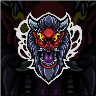 Logo de mascotte esport tête de diable