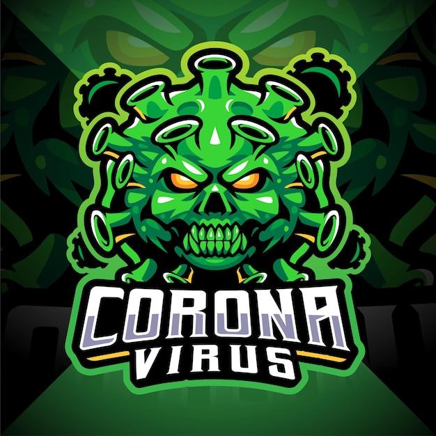 Logo de la mascotte esport virus corona