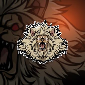 Logo de la mascotte esports team lion squad