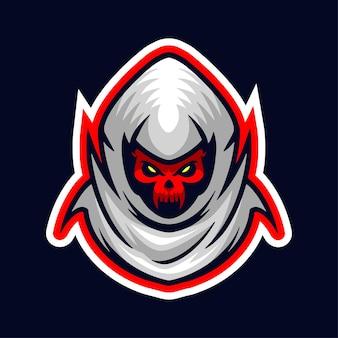Logo de la mascotte de l'éventreur sinistre logo du joueur et du streamer de sport esport logo de la mascotte de la tête uniquement