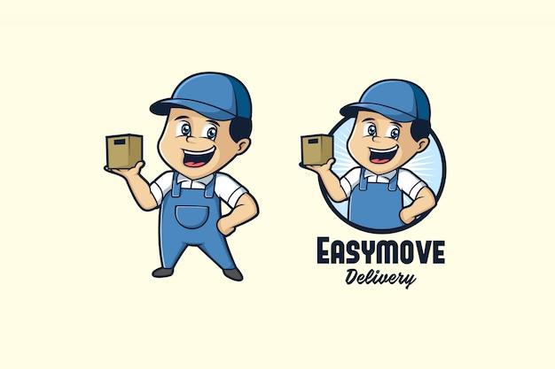Logo de mascotte facile à déplacer