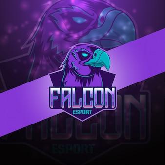 Logo mascotte falcon esport