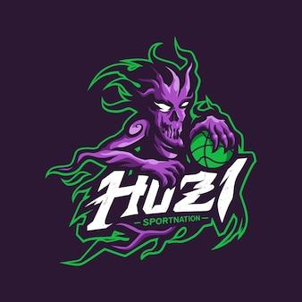 Logo mascotte fantme