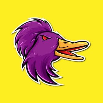 Logo mascotte fond jaune