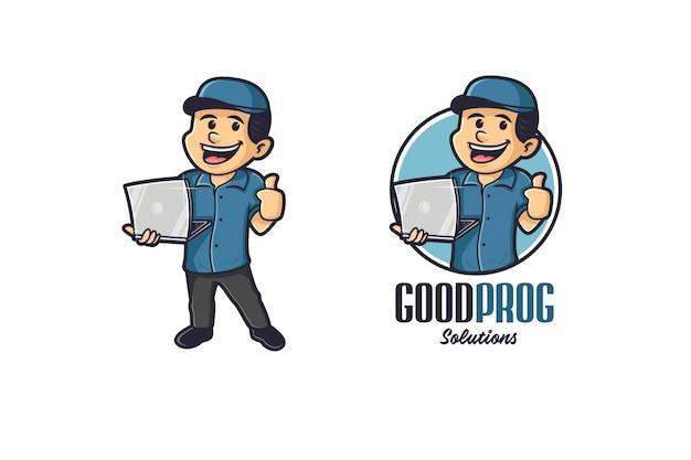 Logo de mascotte gadget boy