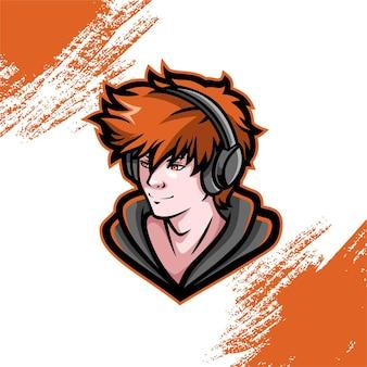 Logo mascotte gamer