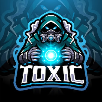 Logo de mascotte de gaz toxique esport