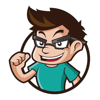Logo de mascotte geek