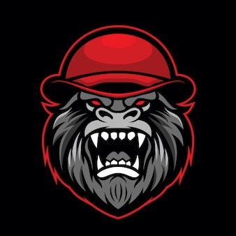 Logo de mascotte de gorille