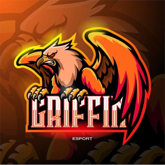 Logo mascotte griffin