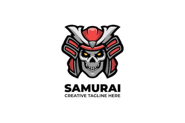 Logo de mascotte de guerrier de chevalier samouraï