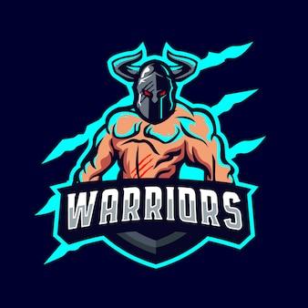Logo mascotte guerrier