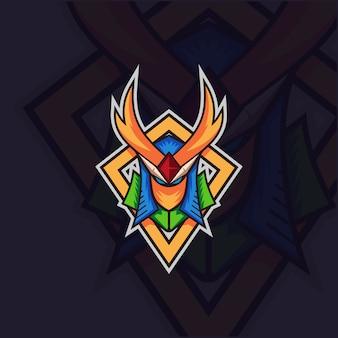 Logo de mascotte de guerrier