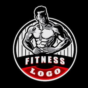 Logo de mascotte de gym fitness