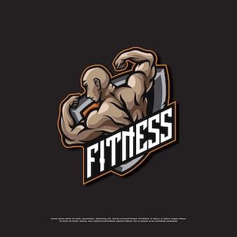 Logo de mascotte de gymnase de remise en forme